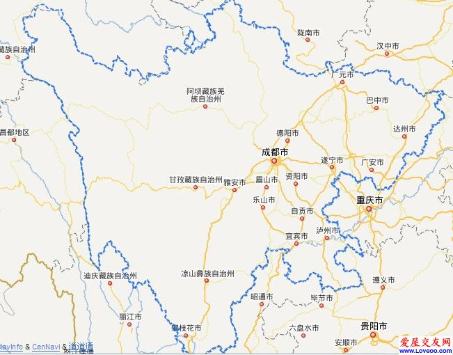 四川省地图,供大家参考